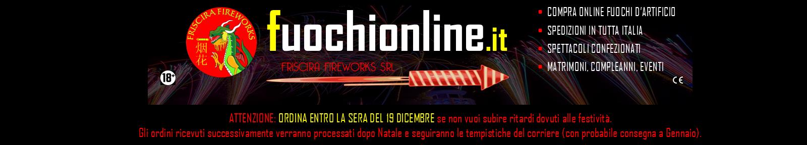 Vendita Fuochi d'Artificio Online